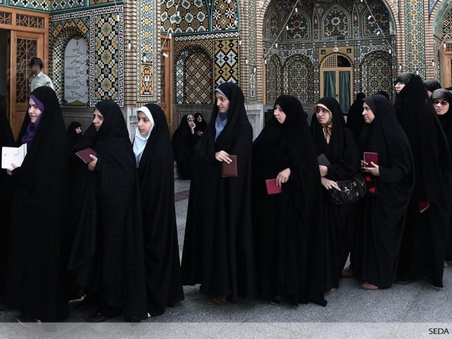 Iranian Women Rocking the Vote.