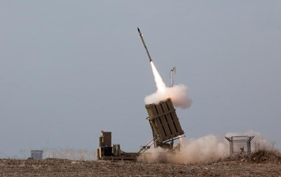 Iron Dome launching an interceptor missile. Photo by Nehemiya Gershoni courtesy of the IDF