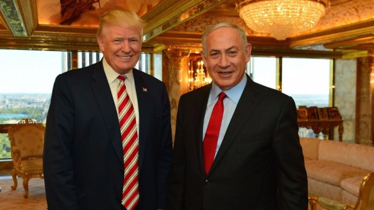 Israeli Prime Minister Benjamin Netanyahu and President Donald Trump meeting at Trump Tower in New York, September 25, 2016. (Kobi Gideon/GPO)